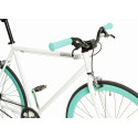 Bicicleta Fixie Branca/Celeste