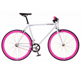 Fixie Bike White & Pink