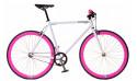 Bicicleta Fixie White & Pink