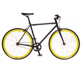 Fixie Bike Black & Yellow