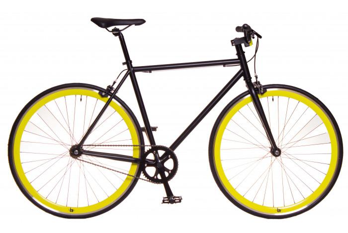 Fixie Bike Black & Yellow