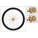 "Origin8 Fixie Front Wheel (28"") - Black with Golden Hub"