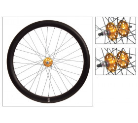 "Origin8 Fixie Front Wheel (28"") - Black with Golden Hub"
