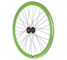 Roda da Frente Fixie Ozone CNC - Verde