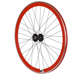 Fixie Front Wheel Ozone CNC - Red