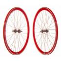 Wheelset Fixie P40 CNC - Red
