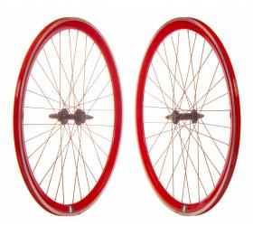 Par Rodas Fixie P40 CNC - Vermelho