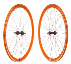Par Ruedas Fixie P40 CNC - Naranja