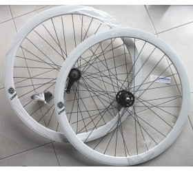 Par de Rodas Origin8 c/Contra Pedal - Brancas