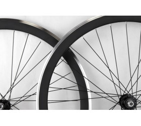 CNC Fixie Wheelset - Matte Black