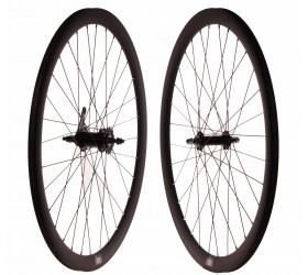 "Wheelset Fixie FK Matte Black (28"") - CNC"
