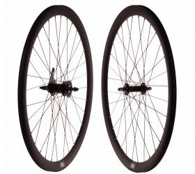 "Wheelset Fixie FK Matte Black (28"") - CNC"