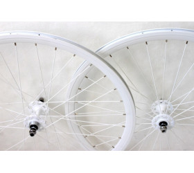 Wheelset Fixie Weinmann DP18 - Full White