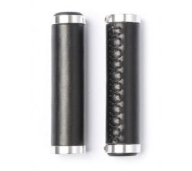 Lock-on Leather Grips - Black