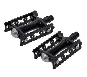 Retro Aluminium Pedals - Black