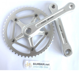 Pro-wheel Fixed Crankset - Silver