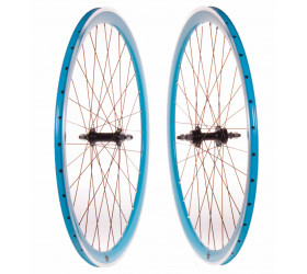 CNC Fixie Wheelset - Blue